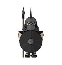 Spartan warrior stylized warrior vector