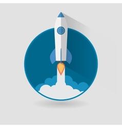 Start Up Concept Roket Ship Flat Design vector image