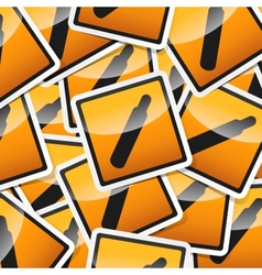 Sticker-danger-symbols vector