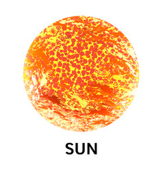 sun icon realistic style vector image