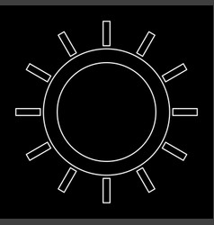 Sun the white path icon vector