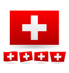 swiss flag flag of switzerland vector image