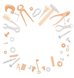 tools lying in circle vector image