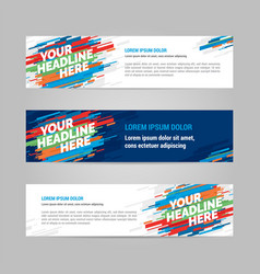 Web banner layout templat design vector