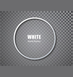 White circle blank picture frames empty frame vector