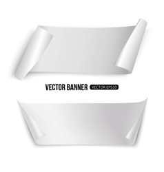 white paper banners isolated template vector image