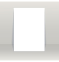 Blank poster mock-up vector