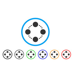 circular relations rounded icon vector image