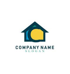 home letter c design vector image vector image