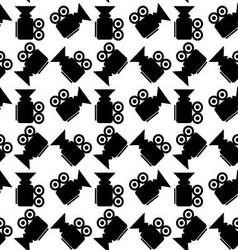 Seamless pattern video camera vector image