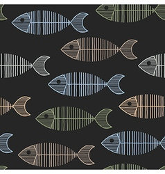 Seamless Tile With 50s Retro Fish Bone Pattern vector image