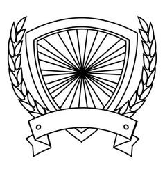 shield frame icon vector image