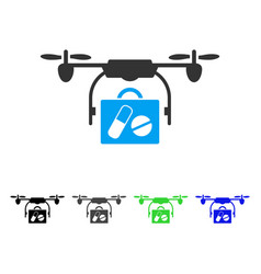 airdrone pharmacy delivery flat icon vector image