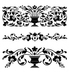 antique ornaments vector image