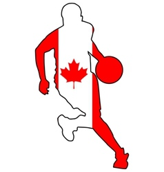 basketball colors of Canada vector image