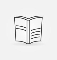 book outline icon vector image