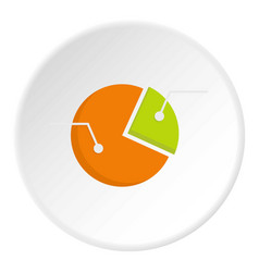 colorful pie graphic chart icon circle vector image vector image