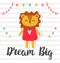 dream big inspirational quote hand drawn vector image