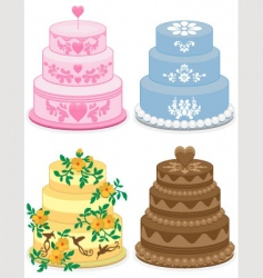 fancy cakes vector image vector image