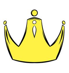 golden crown icon cartoon vector image