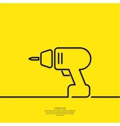 Hand screwdriver vector