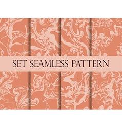 Marbling seamless pattern set vector image vector image