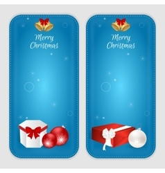 Set of two vertical banners with Christmas balls vector image vector image