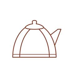 teapot hot beverage out line vector image
