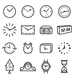 Clock icons vector image