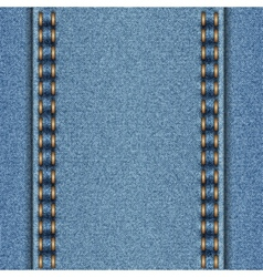 Denim texture with two parallel seams vector image