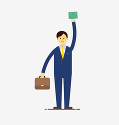 flat businessman character style wear suite vector image