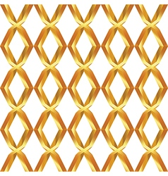 Seamless pattern of golden mesh vector image vector image