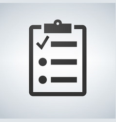 the checklist icon clipboard symbol flat vector image