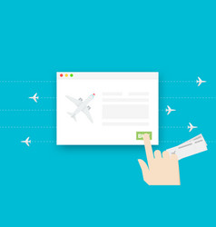 airline tickets online conceptual flat vector image