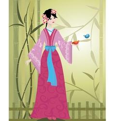 China girl4 vector image vector image