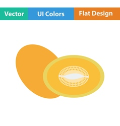 Flat design icon of Melon vector image