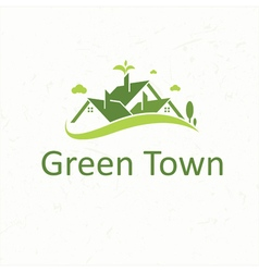 Green Town for real estate business vector image