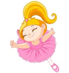 Little ballerina vector image vector image