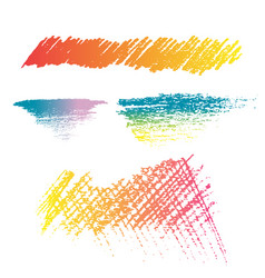 Pencil color brush texture style vector