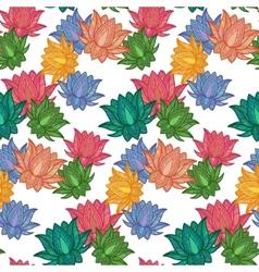 Seamless Pattern Lotus vector image