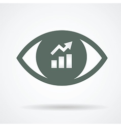 see positive trend vector image