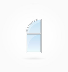window frame with rounded valve eps 10 vector image vector image