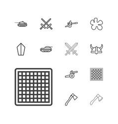 13 battle icons vector