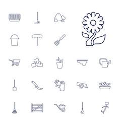 22 gardening icons vector