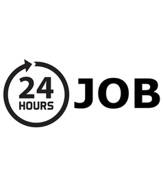 24 Hours job vector