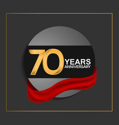 70 years anniversary logotype with golden color vector
