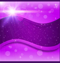 Abstract purple background with bokeh and flare vector
