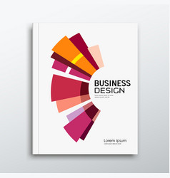 Annual report book report abstract colorful vector