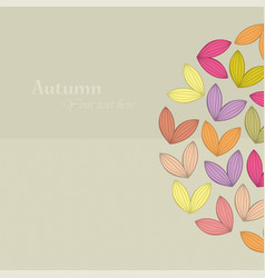 autumn theme falling leaves vector image