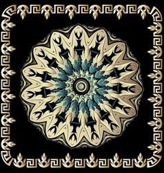 baroque 3d round mandala pattern ornamental vector image